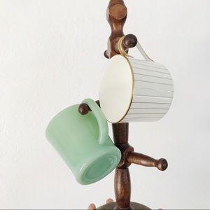 Vintage wooden mug / jewelry holder
